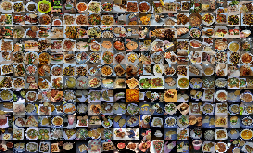 Photos of some of the more than 1,000 meals I've logged.