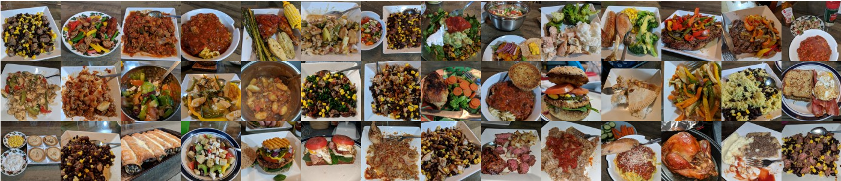 Some of the more than 1,000 meals I've logged