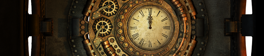Steampunk clock image